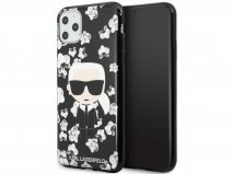 Karl Lagerfeld Flower TPU Case - iPhone 11 Pro Max hoesje
