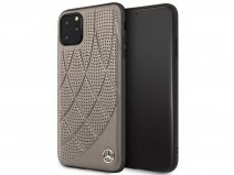 Mercedes-Benz Leather Case Bruin - iPhone 11 Pro Max hoesje