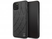 Mercedes-Benz Leather Case Zwart - iPhone 11 Pro Max hoesje