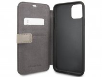 Mercedes-Benz Leather Bookcase Bruin - iPhone 11 Pro Max hoesje