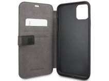 Mercedes-Benz Leather Bookcase Zwart - iPhone 11 Pro Max hoesje