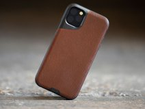 Mous Contour Leather Case Bruin - iPhone 11 Pro Max hoesje