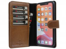 Pierre Cardin True Wallet Bruin Leer - iPhone 11 Pro Max hoesje