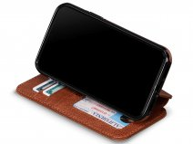 Sena Wallet Book Cognac - iPhone 11 Pro Max Hoesje Leer
