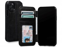Sena Wallet Book Zwart - iPhone 11 Pro Max Hoesje Leer