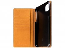 SLG Design D6 Minerva Bookcase Tan - iPhone 11 Pro Max hoesje