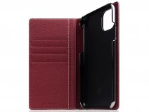 SLG Design D8 Folio Leer Burgundy Rose - iPhone 11 Pro Max hoesje