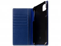 SLG Design D8 Folio Leer Navy Blue - iPhone 11 Pro Max hoesje