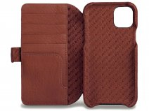 Vaja Wallet Agenda Case Tan - iPhone 11 Pro Max Hoesje Leer