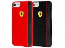 Ferrari Paddock Carbon Hard Case - iPhone 8/7 hoesje