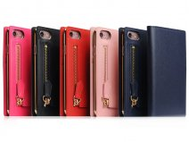 SLG Design Saffiano Zipper - Leren iPhone 8/7 hoesje