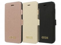 Guess Saffiano Bookcase - iPhone 7 Plus hoesje