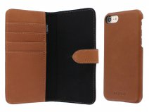 Agna Magneat 2in1 Case Cognac Leer - iPhone 8/7 hoesje