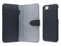 Agna Magneat 2in1 Case Navy Leer - iPhone 8/7 hoesje