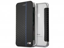 BMW M Sport Book Case Blauw - iPhone 8/7/6 hoesje