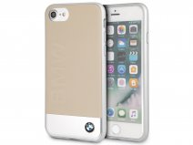 BMW Leather Alu Case Beige - Leren iPhone 8/7/6 hoesje