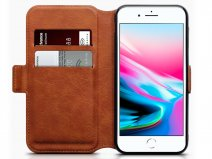 CaseBoutique Slim Book Cognac Leer - iPhone 8/7 hoesje