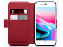 CaseBoutique Slim Book Rood Leer - iPhone 8/7 hoesje