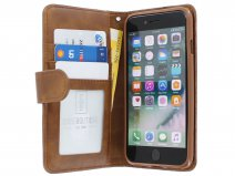 Zipper Wallet Case Bruin - iPhone 8/7/6 hoesje