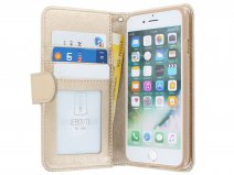 Zipper Wallet Case Goud - iPhone 8/7/6 hoesje