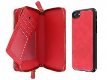 Smartphone Wallet met Magnetic iPhone 8/7 hoesje Rood