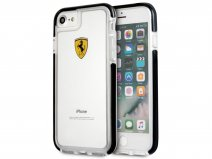 Ferrari Shockproof Case Zwart - iPhone 8/7 Hoesje