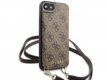 Guess 4G Crossbody Case Bruin - iPhone SE 2020 / 8 / 7 / 6(s) hoesje