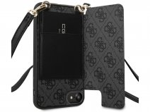 Guess 4G Crossbody Case Grijs - iPhone SE 2020 / 8 / 7 / 6(s) hoesje