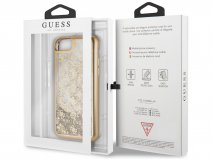 Guess Monogram Liquid Glitter Case Goud - iPhone 8/7/6 hoesje