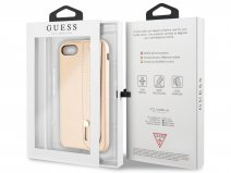 Guess Iridescent Strap Case Goud - iPhone 8/7/6 hoesje