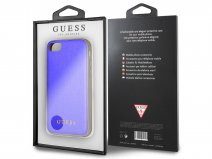Guess Iridescent Case Blauw - iPhone 8/7/6s hoesje