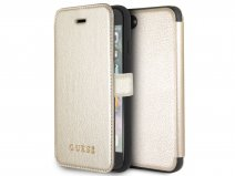 Guess Iridescent Bookcase Goud - iPhone 8/7/6 hoesje