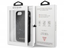 Guess Marble Look Case Zwart - iPhone SE 2020 / 8 / 7 / 6(s) hoesje