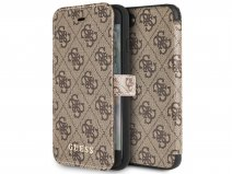 Guess Monogram Bookcase Bruin - iPhone SE 2020 / 8 / 7 / 6(s) hoesje