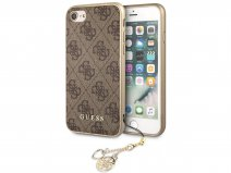 Guess Monogram Charm Case Bruin - iPhone SE 2020 / 8 / 7 / 6(s) hoesje