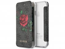 Guess Monogram Rose Book Grijs - iPhone 8/7/6 hoesje