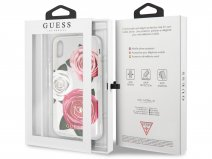Guess Pink Roses TPU Skin - iPhone 8/7 hoesje