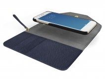 iDeal of Sweden Mayfair Clutch Navy voor iPhone 8/7/6
