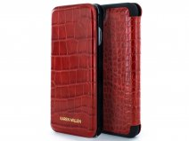 Karen Millen Folio Croco Rood - iPhone 8/7/6 Hoesje
