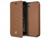 Mercedes Bookcase III Bruin Leer - iPhone 8/7/6 hoesje