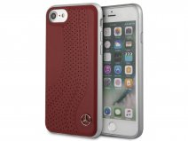 Mercedes-Benz Case Rood Leer - iPhone 8/7/6 hoesje