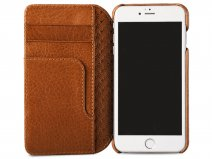 Vaja Wallet Agenda Case Saddle Tan - iPhone SE 2020 / 8 / 7 hoesje Leer
