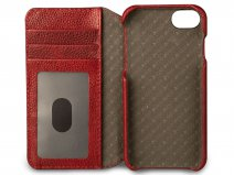 Vaja Wallet ID Leather Case Chili - iPhone 8/7 Hoesje Leer