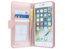 Zip Wallet Case Rosé Goud - iPhone 8+/7+/6+ hoesje