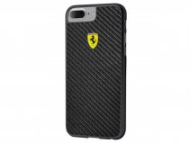Ferrari Carbon Fiber Case - iPhone 8+/7+/6+ Hoesje