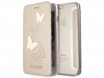 Guess Butterfly Studs Bookcase Goud - iPhone 8+/7+/6+ hoesje