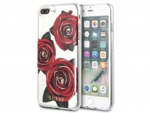 Guess Red Roses TPU Case - iPhone 8+/7+/6+ hoesje