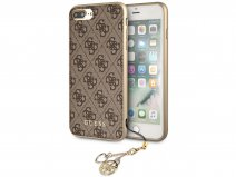 Guess Monogram Charm Case Bruin - iPhone 8+/7+/6+ hoesje