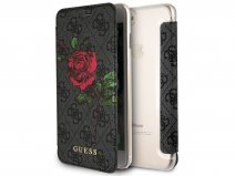 Guess Monogram Rose Book Grijs - iPhone 8+/7+/6+ hoesje