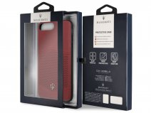 Maserati Leather Case - iPhone 8+/7+/6+ Hoesje Leer